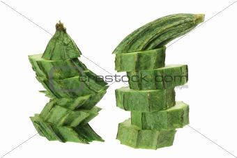Slices of Chinese Okra