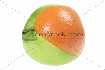 Slice of Orange in Apple