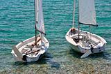 Beachsmall sailboats