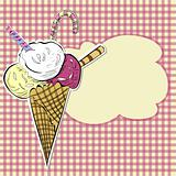 Stylized illustration ice cream