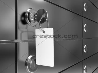 Deposit box with key