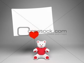 Holder bear with love note