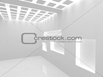 Empty modern shop