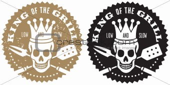 King of the Grill Barbecue Logo