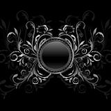 aluminium background with ornamental medallion