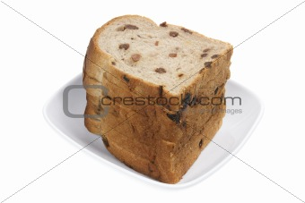 Slices of Raisin Bread