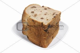 Slices of Raisin Bread
