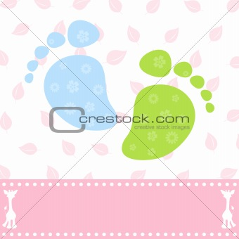 Foot of the child