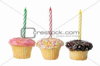 Cup Cakes with Birthday Candles