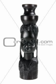 African Woman Carving
