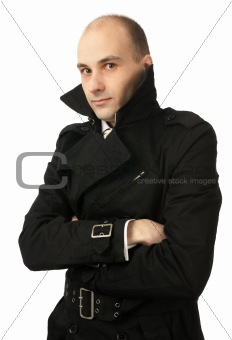 portrait of freezing young man