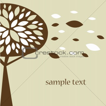 Abstract tree autumn background