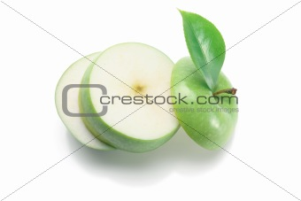 Slices of Granny Smith Apple