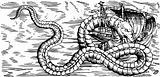 Sea dragon sinking the ship