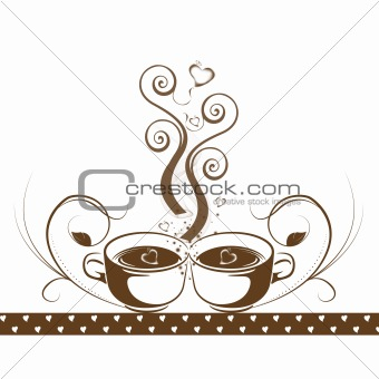 Abstract coffee concept