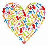 Heart from arrows