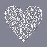 Heart from arrows2