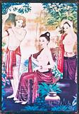 Thai art painting on the wall.