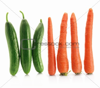 Carrots and Lebanese Cucumbers