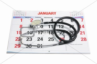 Calendar and Stethoscope