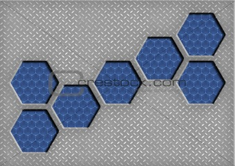 abstract hexagonal steel background