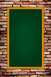 green blackboard on grunge wall
