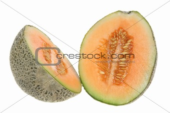 Rock Melon in Halves