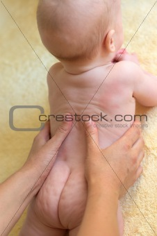 Baby boy massage