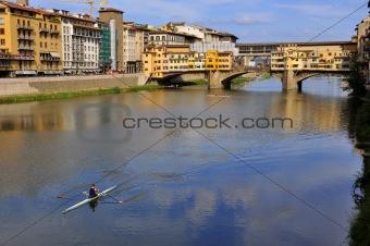 Vecchio Bridge , Florence , Italy