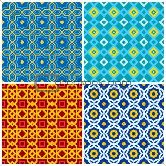 Four eastern geometric ornaments