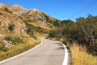 Alpine road, northern Italy.