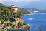 View on bay of Portofino, Italy.