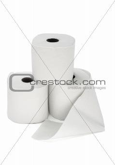 Three toilet rolls