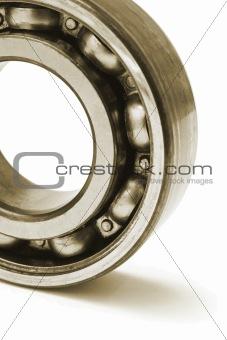 Close up of ball bearing