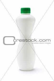 Blank white plastic bottle