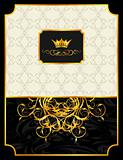 vintage background with crown