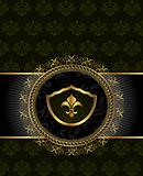 cute background with heraldic element