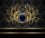 gold vintage frame for design packing