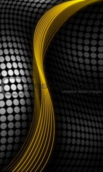 Gold and black abstract background