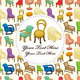 cartoon chair furniture card