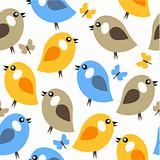 Seamless simple pattern with birds