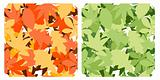 Two seamless patterns with dfferent contour leaves