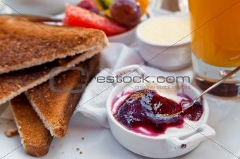 Breakfast with orange juice