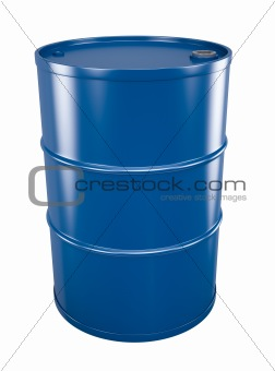 Blue oil drum