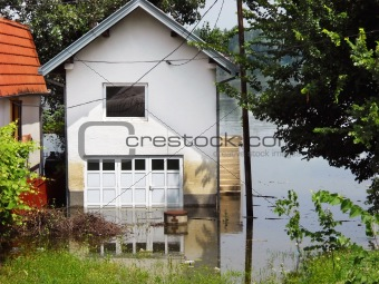 Flood - house in water