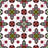 Seamless geometric motley pattern