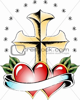 cross symbol tattoo