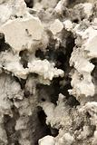 hole in white erosioned rock