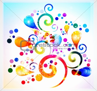 abstract rainbow colorful floral background