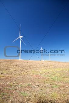 three wind energy mills